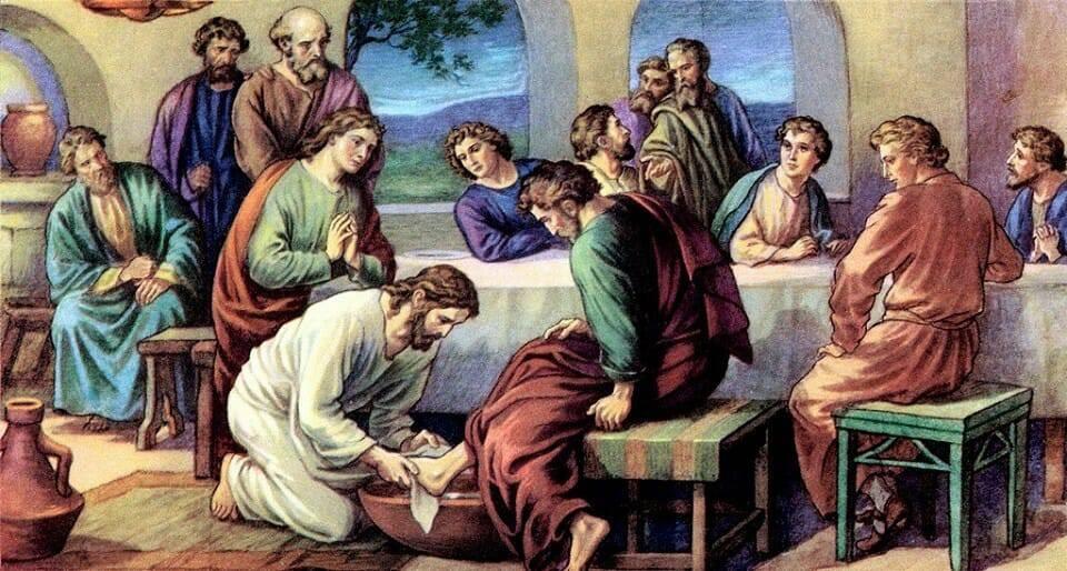 Nghi thức rửa chân trong Thánh lễ Tiệc Ly thứ Năm Tuần Thánh