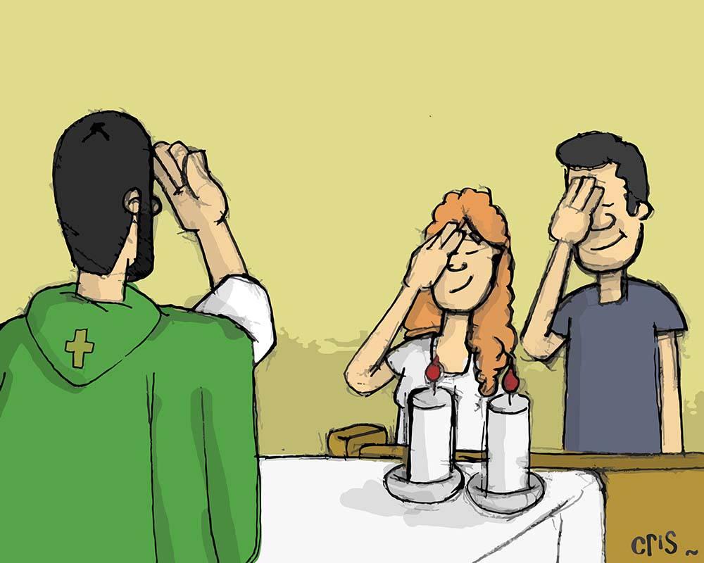 Giáo dân được phép bắt chước cử chỉ của chủ tế trong Kinh nguyện Thánh Thể không?