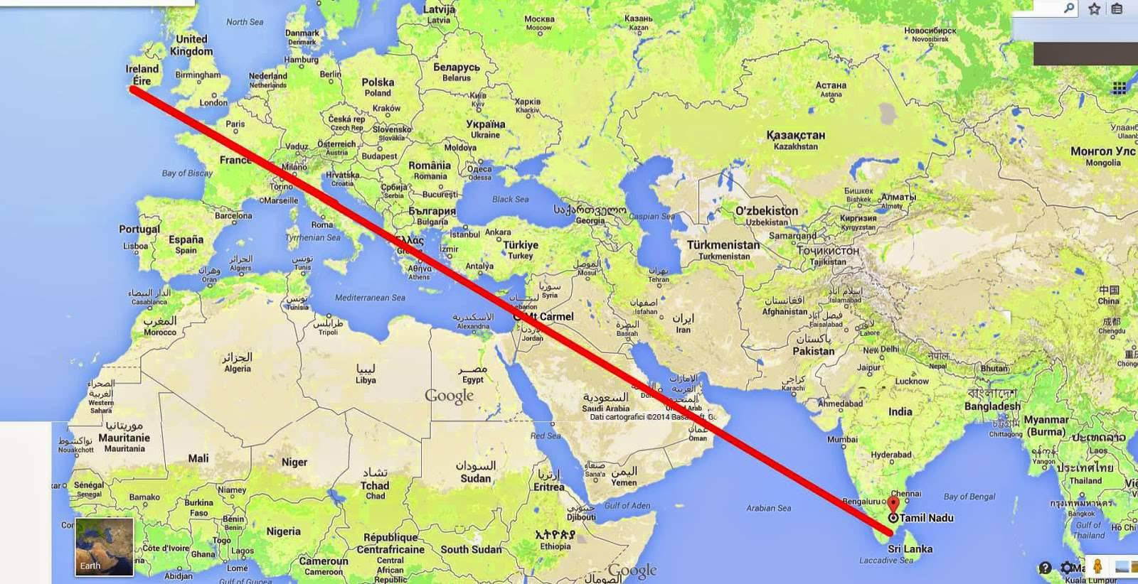 """Sự sắp đặt của Chúa: """" Các Ðền Thánh Micae làm thành đường thẳng trên bản đồ """""""