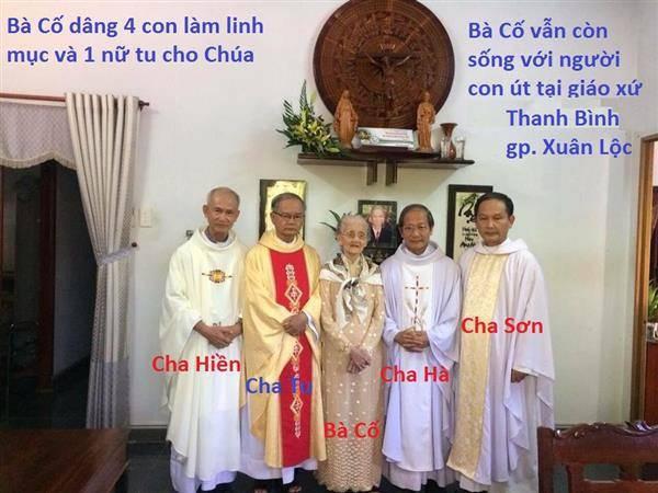 Bà Cố gần 100 tuổi có 4 người con trai làm linh mục, 2 nữ tu.