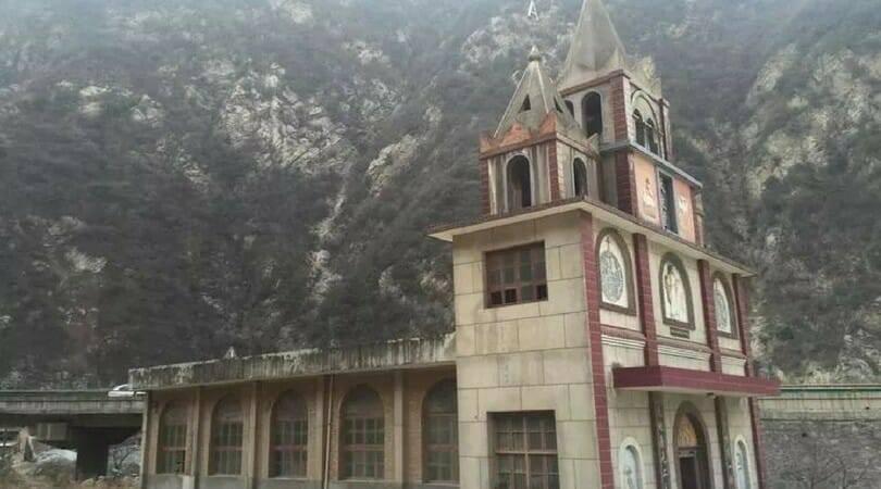 Ngôi nhà thờ ở Tây An đã bị phá hủy sau Giáng Sinh vì nằm trên vùng Đất Vàng