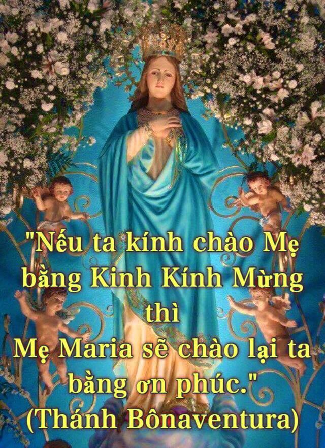 ƠN LÀNH ĐỨC MẸ BAN QUA VIỆC ĐỌC BA KINH KÍNH MỪNG.