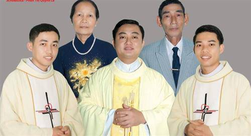 Gia đình đại phúc 3 anh em ruột làm Linh Mục