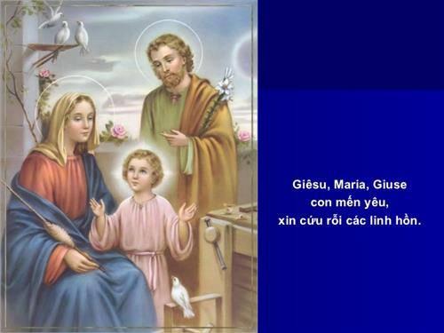 Lời kinh cứu linh hồn Giêsu Maria Giuse, Con Mến Yêu, Xin Cứu Rỗi Các Linh Hồn