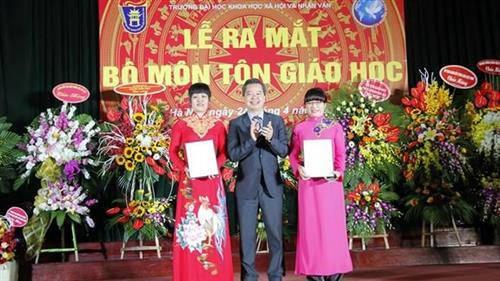 Trường đầu tiên đào tạo cử nhân ngành Tôn giáo học tại Việt Nam