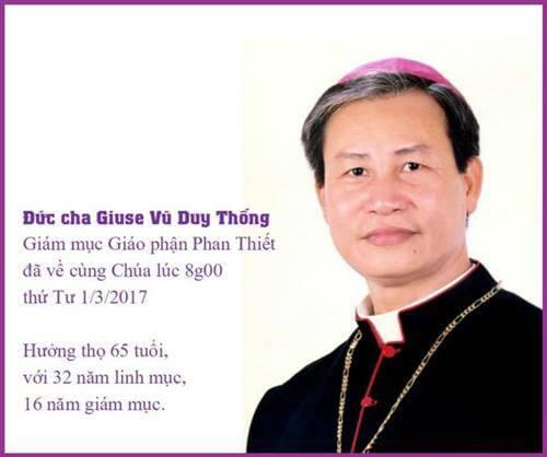 Giỗ đầu Cố Giám mục Giuse Vũ Duy Thống